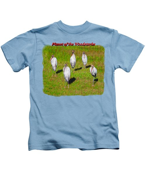 Planet Of The Woodstorks 2 Kids T-Shirt by John M Bailey