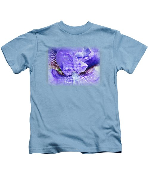 Pretty Purple - Verse Kids T-Shirt by Anita Faye