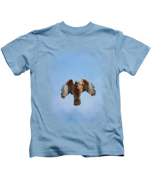Raptor's Warning Kids T-Shirt by Jai Johnson