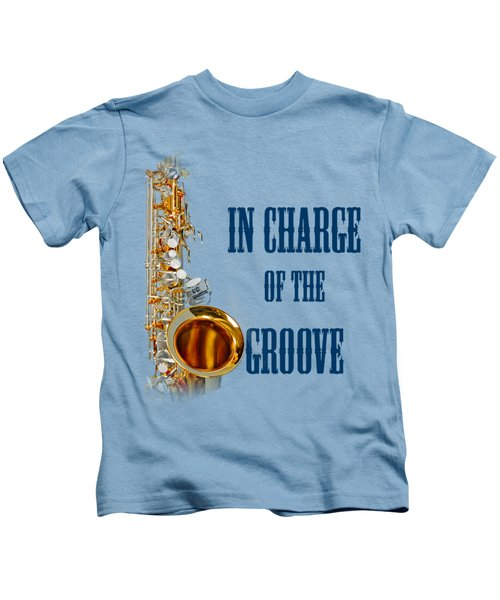 Saxophones In Charge Of The Groove 5532.02 Kids T-Shirt by M K  Miller