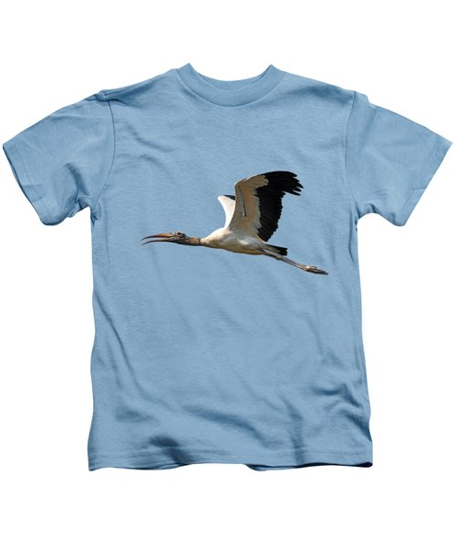Sky Stork Digital Art .png Kids T-Shirt by Al Powell Photography USA