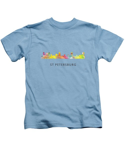 St Petersburg Florida Skyline Kids T-Shirt by Marlene Watson