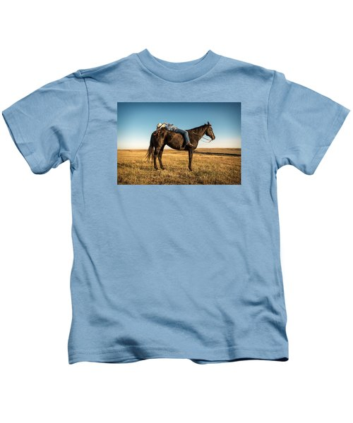 Taking A Snooze Kids T-Shirt by Todd Klassy