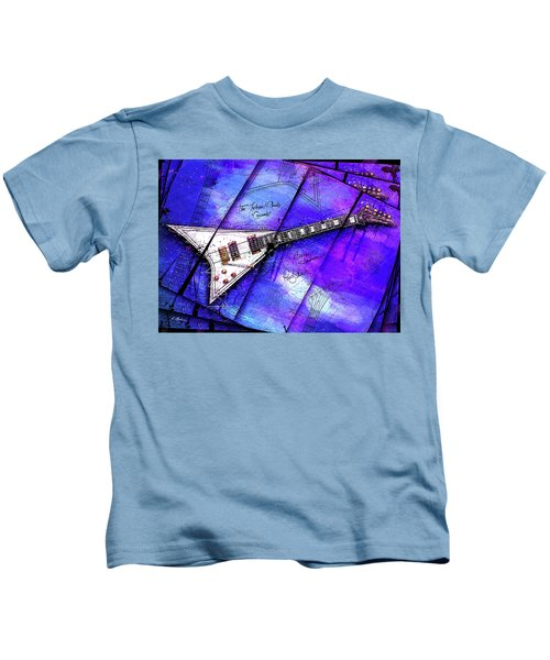 The Concorde On Blue Kids T-Shirt by Gary Bodnar