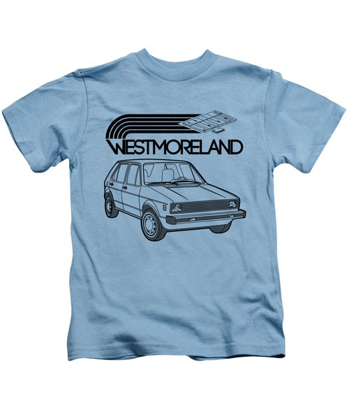 Vw Rabbit - Westmoreland Theme - Black Kids T-Shirt by Ed Jackson