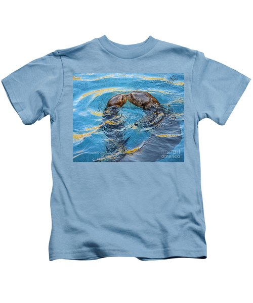 Water Kisses Kids T-Shirt by Jamie Pham