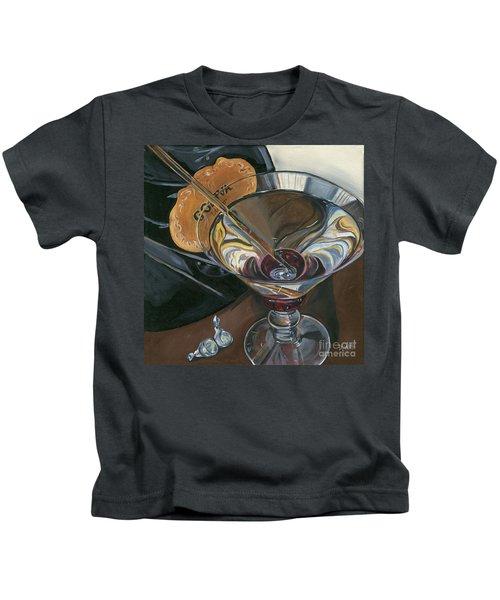 Chocolate Martini Kids T-Shirt by Debbie DeWitt