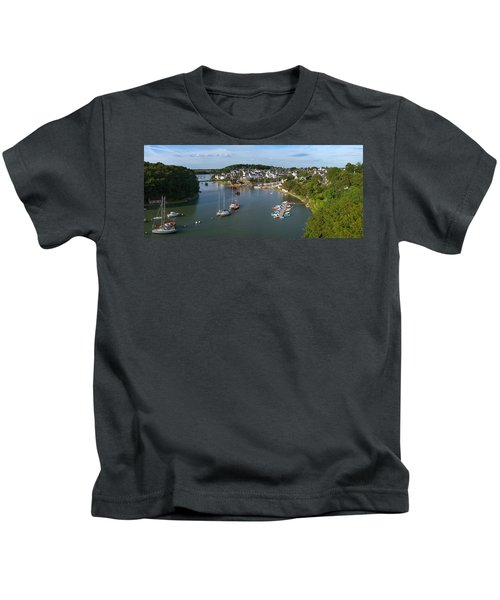 Boats In The Sea, Le Bono, Gulf Of Kids T-Shirt by Panoramic Images