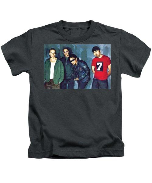 Bono U2 Artwork 5 Kids T-Shirt by Sheraz A