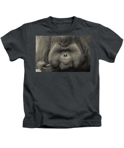 Bornean Orangutan II Kids T-Shirt by Lourry Legarde