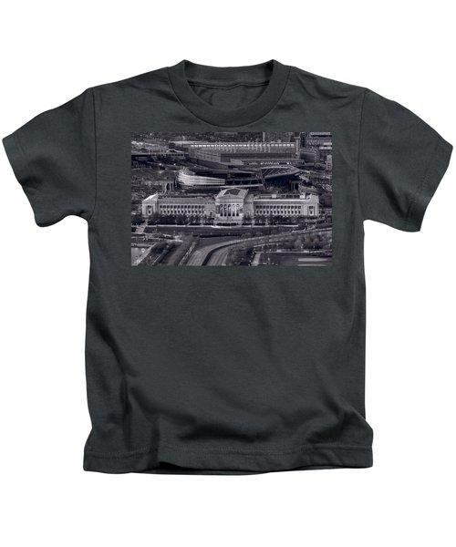 Chicago Icons Bw Kids T-Shirt by Steve Gadomski