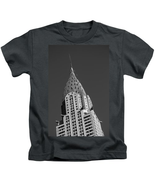 Chrysler Building Bw Kids T-Shirt by Susan Candelario