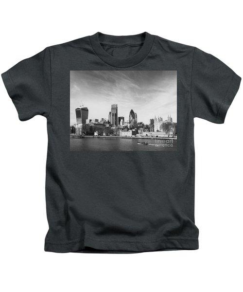 City Of London  Kids T-Shirt by Pixel Chimp