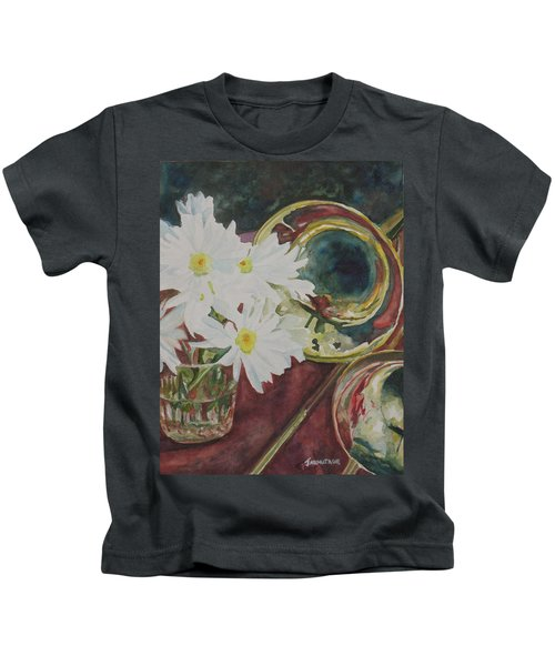 Daisies Bold As Brass Kids T-Shirt by Jenny Armitage