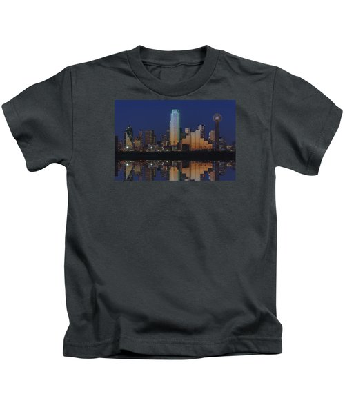 Dallas Aglow Kids T-Shirt by Rick Berk