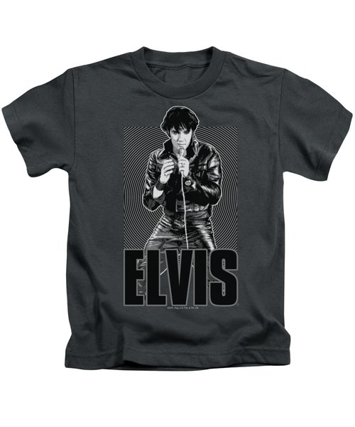 Elvis - Leather Kids T-Shirt by Brand A