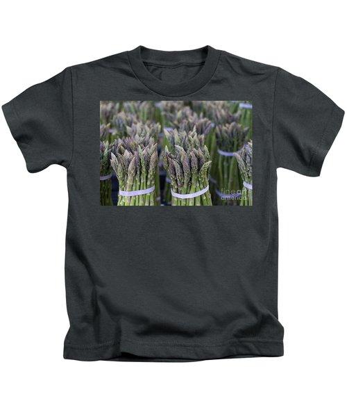 Fresh Asparagus Kids T-Shirt by Mike  Dawson