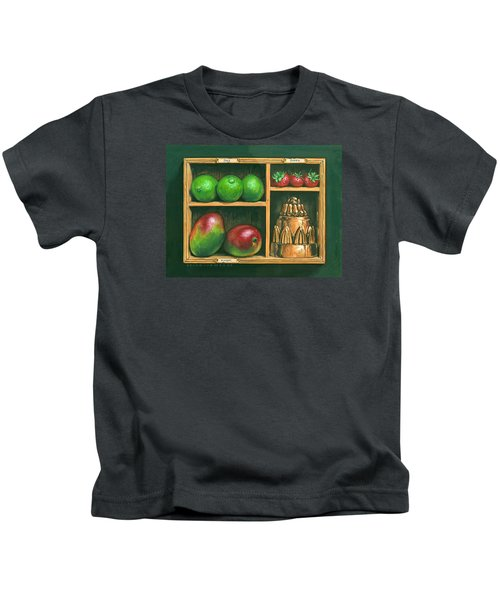 Fruit Shelf Kids T-Shirt by Brian James