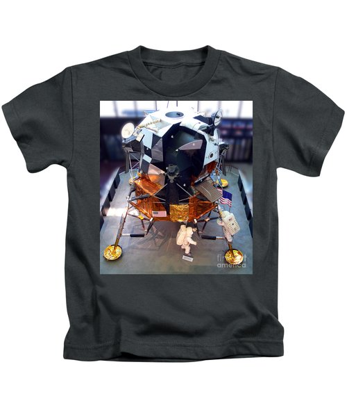 Lunar Module Kids T-Shirt by Kevin Fortier