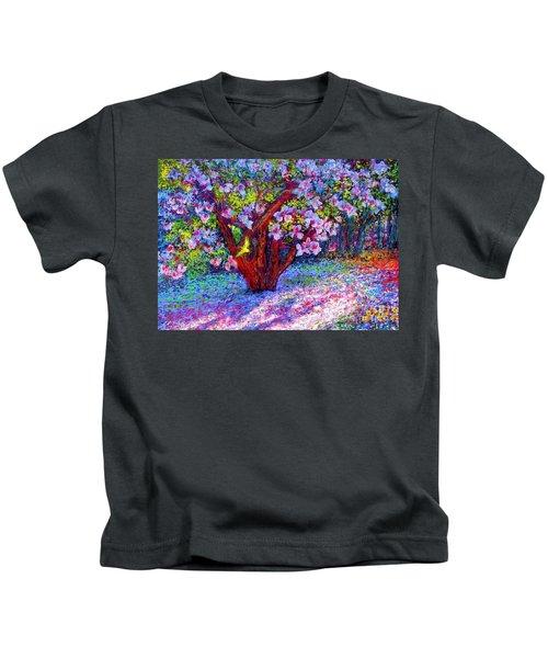Magnolia Melody Kids T-Shirt by Jane Small
