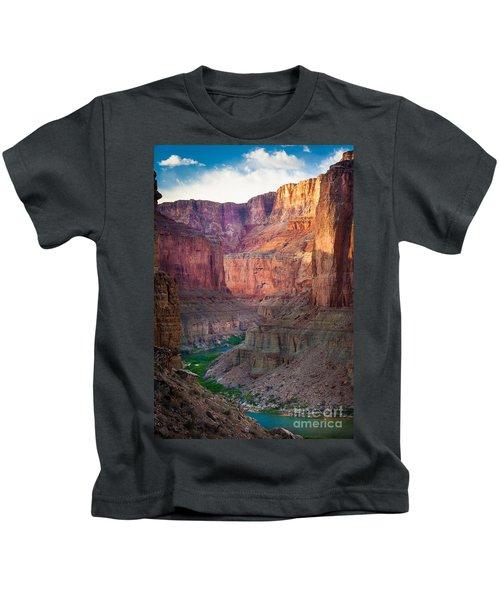 Marble Cliffs Kids T-Shirt by Inge Johnsson