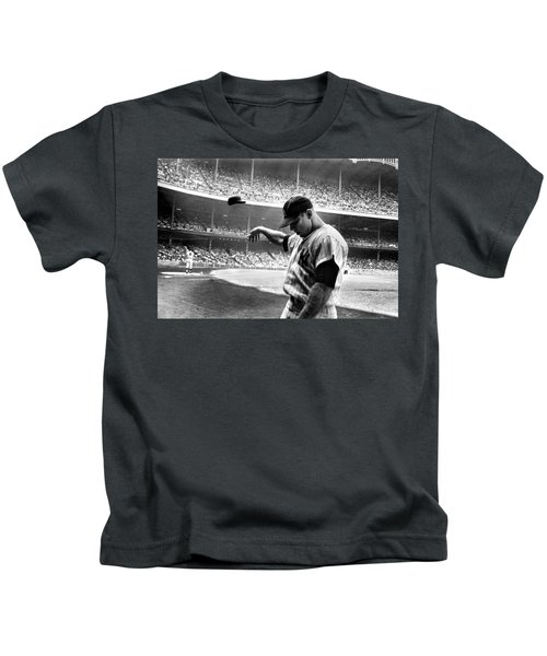 Mickey Mantle Kids T-Shirt by Gianfranco Weiss