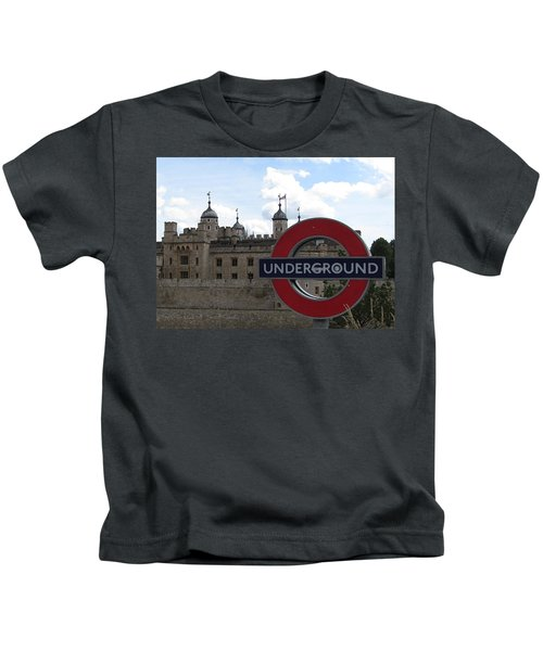 Next Stop Tower Of London Kids T-Shirt by Jenny Armitage