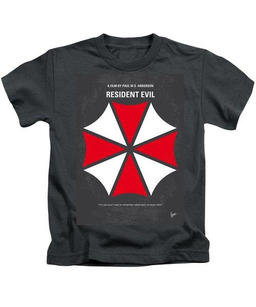 No119 My Resident Evil Minimal Movie Poster Kids T-Shirt by Chungkong Art