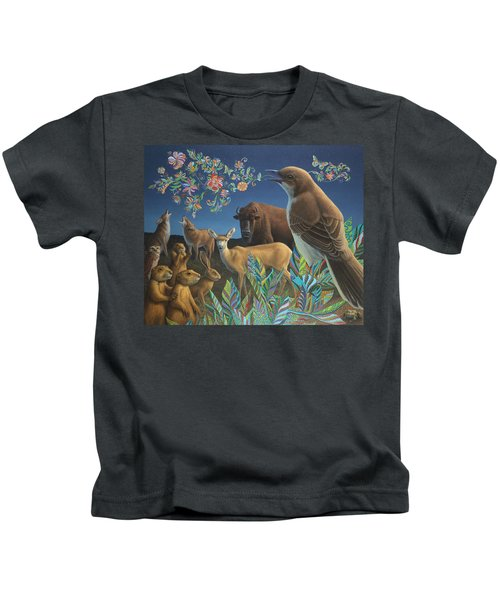 Nocturnal Cantata Kids T-Shirt by James W Johnson