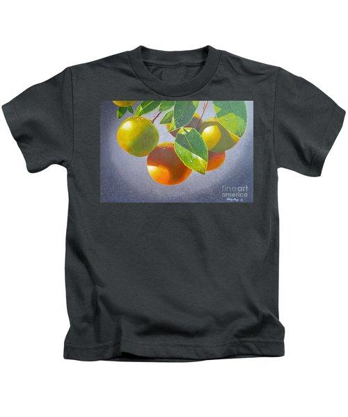 Oranges Kids T-Shirt by Carey Chen