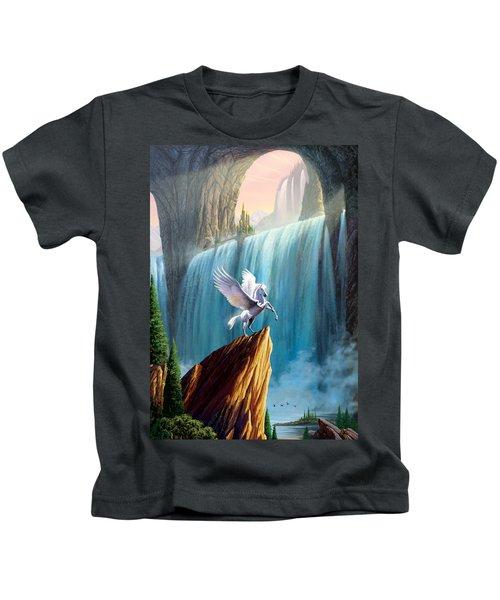 Pegasus Kingdom Kids T-Shirt by Garry Walton
