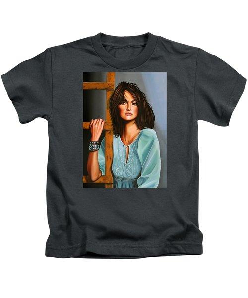 Penelope Cruz Kids T-Shirt by Paul Meijering