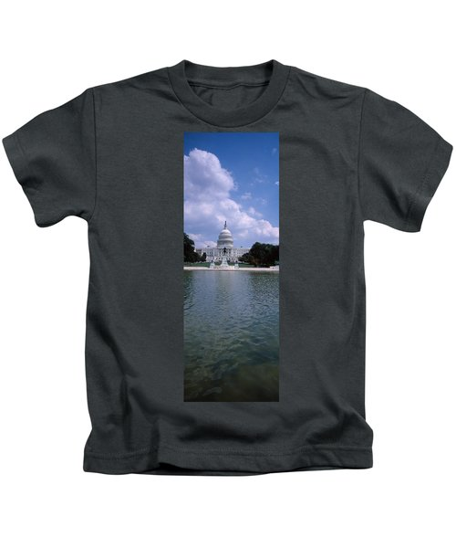 Reflecting Pool With A Government Kids T-Shirt by Panoramic Images
