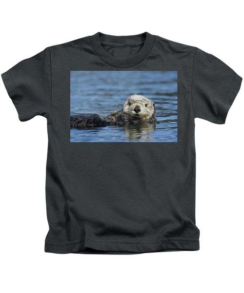 Sea Otter Alaska Kids T-Shirt by Michael Quinton