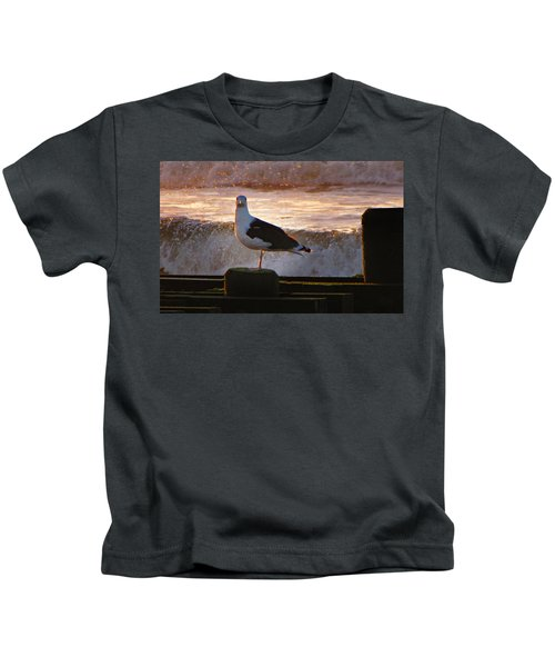 Sittin On The Dock Of The Bay Kids T-Shirt by David Dehner