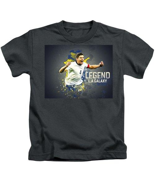 Steven Gerrard Kids T-Shirt by Taylan Soyturk