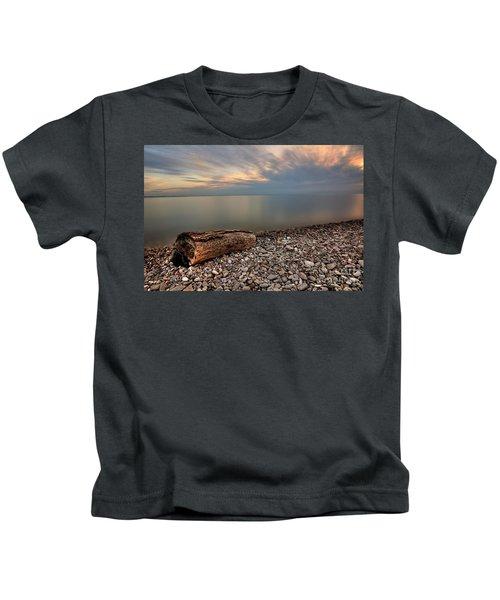 Stone Beach Kids T-Shirt by James Dean