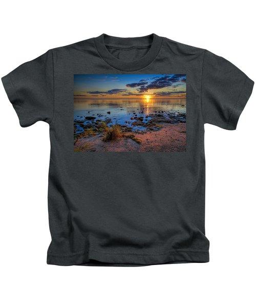 Sunrise Over Lake Michigan Kids T-Shirt by Scott Norris
