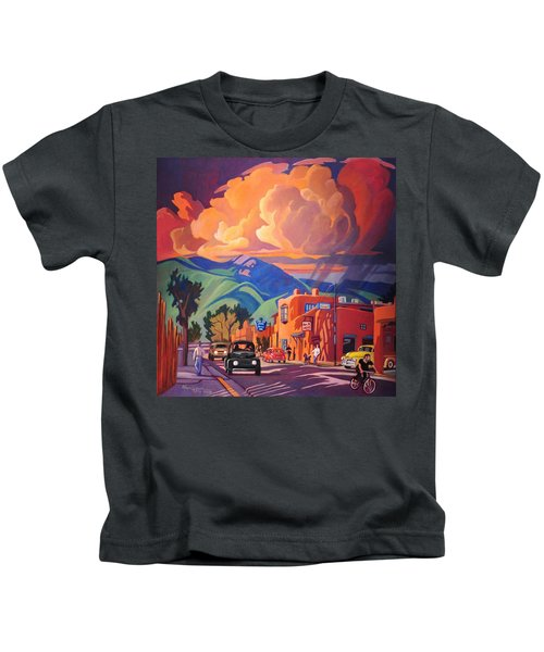 Taos Inn Monsoon Kids T-Shirt by Art James West