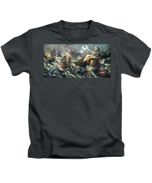 There's Something Fowl Afloat Kids T-Shirt by Patrick Anthony Pierson