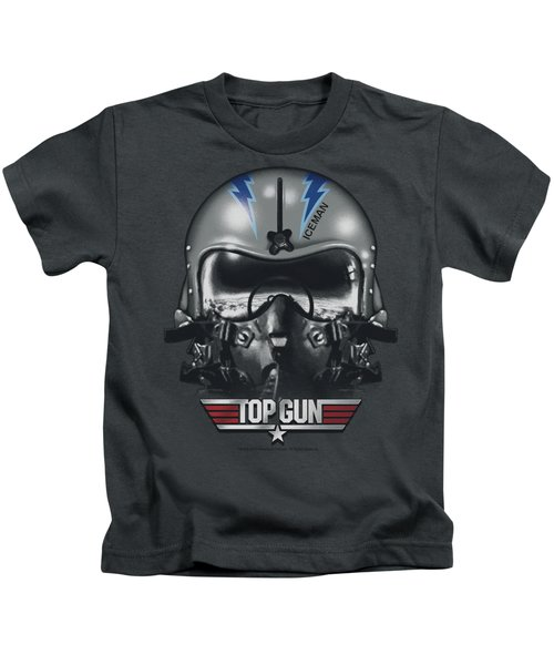 Top Gun - Iceman Helmet Kids T-Shirt by Brand A