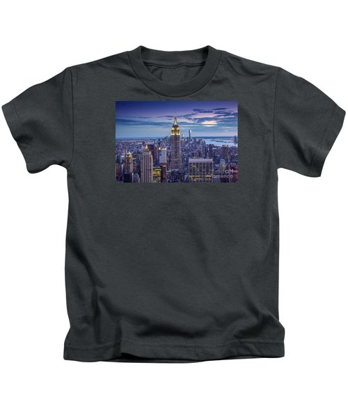 Top Of The World Kids T-Shirt by Marco Crupi
