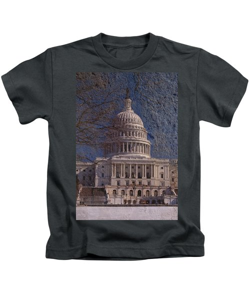 United States Capitol Kids T-Shirt by Skip Willits