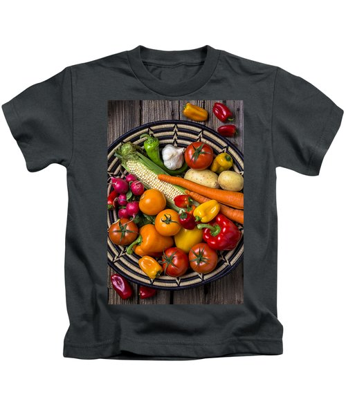 Vegetable Basket    Kids T-Shirt by Garry Gay