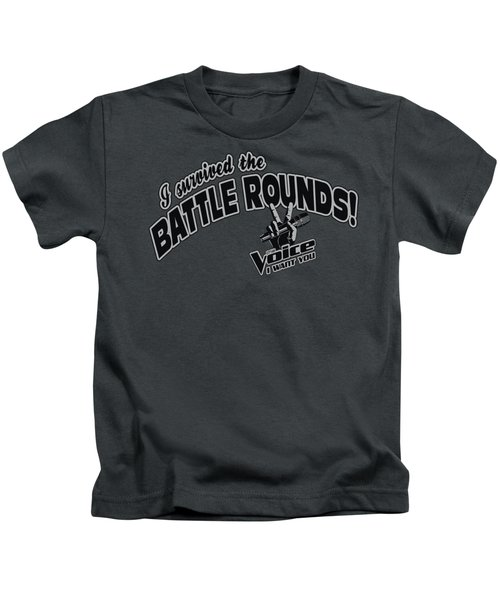 Voice - Battle Rounds Kids T-Shirt by Brand A