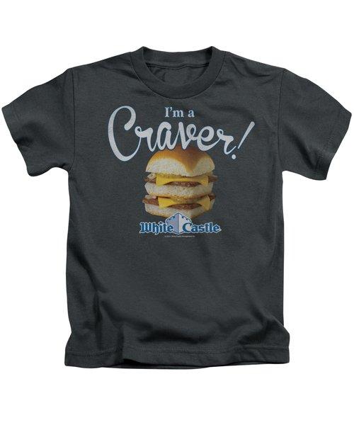 White Castle - Craver Kids T-Shirt by Brand A