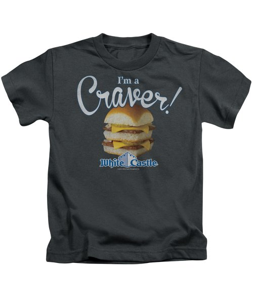 White Castle - Craver Kids T-Shirt by Brand A