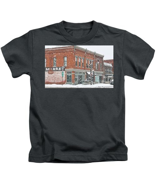 Whitehouse Ohio In Snow 7032 Kids T-Shirt by Jack Schultz