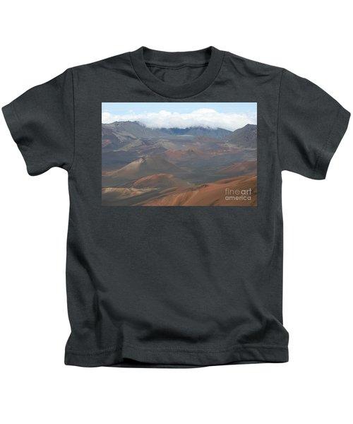 Haleakala Volcano Maui Hawaii Kids T-Shirt by Sharon Mau