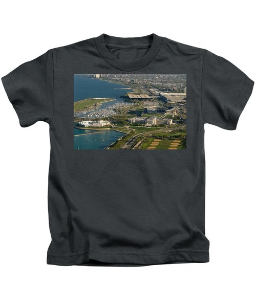 Chicagos Lakefront Museum Campus Kids T-Shirt by Steve Gadomski